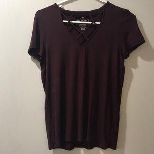 Maroon/Purple American Eagle Top